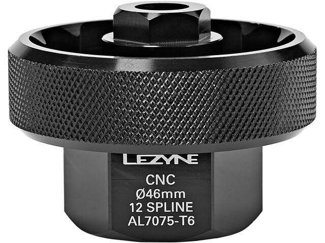 Lezyne DUB/RaceFace/ZIPP/Rotor BSA30/BB386 CNC Bottom Bracket Tool 46mm, negro